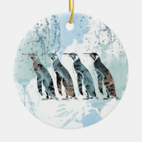 Friends Forever Double-Sided Ceramic Round Christmas Ornament
