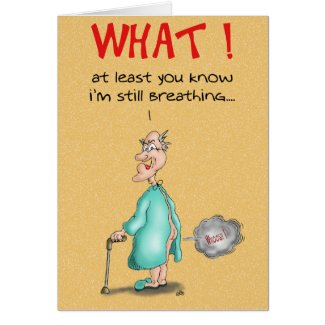 Funny Birthday Cards: Old Fart