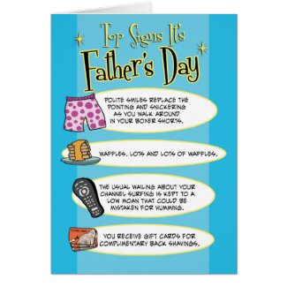 Funny Father's Day card: Top Signs