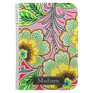 Girly Pattern Personalized Caseable Kindle Case