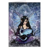 Gothic Dragon Fairy Card Notecard