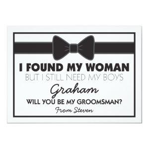 Groomsmen Wedding Bow Tie Card