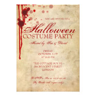 Halloween Costume Party Custom Announcements