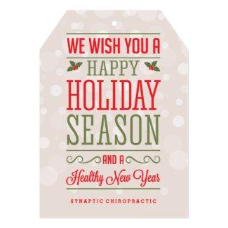 Happy Holiday Season Corporate Healthcare Cards