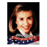 Hillary Clinton, First Lady of the U.S. Post Cards
