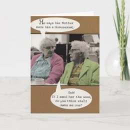 Happy Birthday Gay Greeting Card