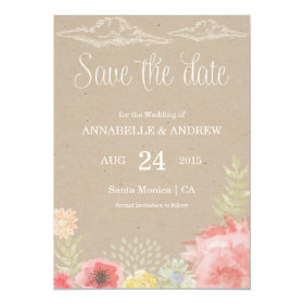 In the Meadow Summer Wedding Save the Date Card