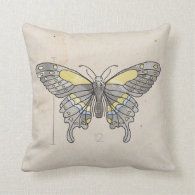 Insects Series- Dragonfly   Butterfly 2 for 1 Throw Pillows