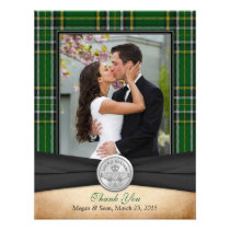 Irish Tartan Celtic Claddagh Wedding Thank You