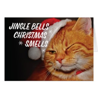 Jingle Bells Christmas Smells Christmas Card