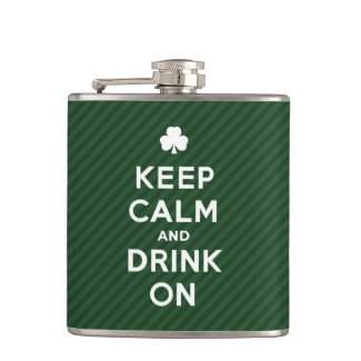 Keep Calm and Drink On - Funny St. Patrick flask