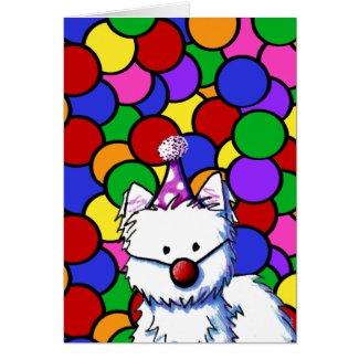 KiniArt Westie Birthday Card