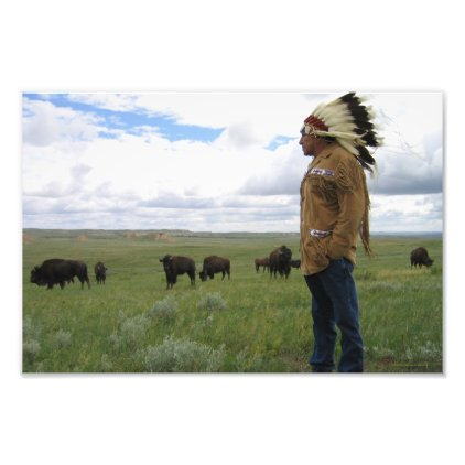 Lakota Resurgence - The Buffalo - The Land Photographic Print