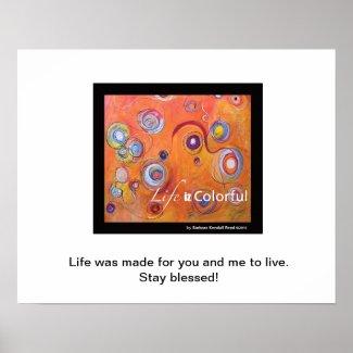 Life Iz Colorful Inspirational Poster