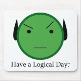 Star Trek Have A Logical Day Mousepad
