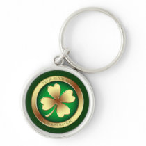 Lucky Kiss Me I'm Irish Shamrock Keychain