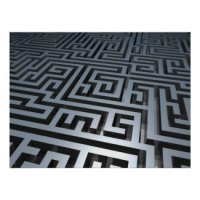 Maze Puzzle Geeks T-Shirts & Gifts - Metal Maze Poster