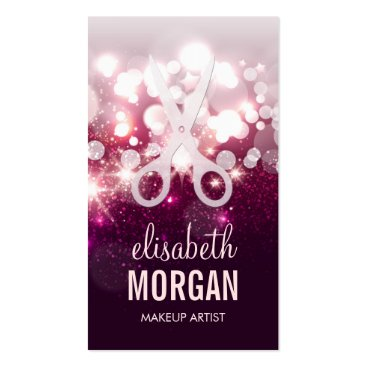 Modern Hair Stylist - Pink Glitter Sparkle Double-Sided Standard Business Cards (Pack Of 100)