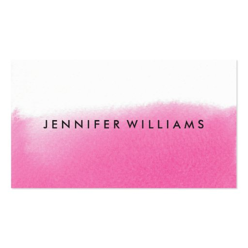 Modern Pink Watercolor Wash | Business Cards