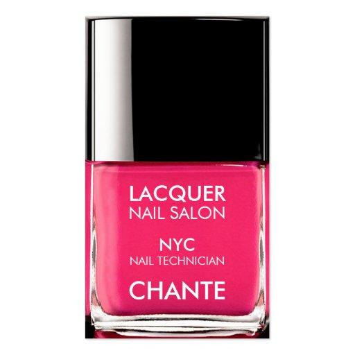 Modern stylish trendy neon pink nail polish chic business card