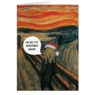 Munch The Scream Anti Christmas Card
