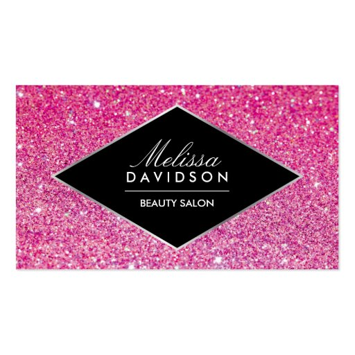 Pink Glitter and Glamour Beauty Business Card
