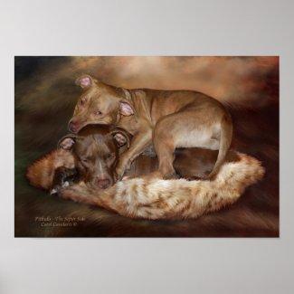 Pitbulls - The Softer Side Art Poster/Print