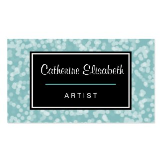 Pretty Baby Blue Bokeh Abstract 2-Sided Double-Sided Standard Business Cards (Pack Of 100)