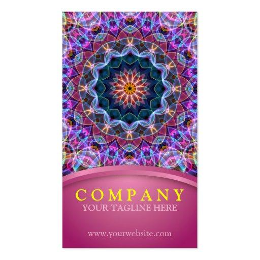 Purple Lotus Mandala with pink Business Card