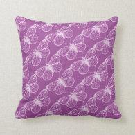 Purple Patina: Butterflies and Dragonflies Throw Pillows