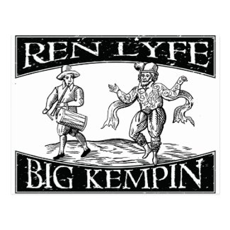 "Ren Lyfe: Distressed William ""Big Kempin"" Kempe Postcard"