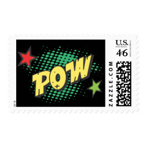 Retro Comic Book Super Hero Pow Postage