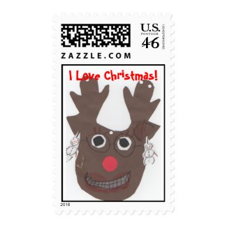 Rudolph - I Love Christmas! Postage