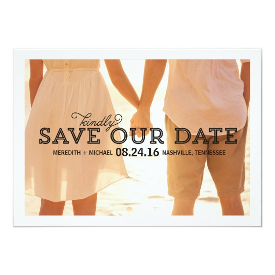 Rustic Whimsy | Photo Save the Date Card