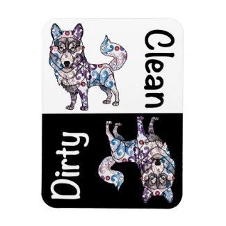 Siberian Husky Dishwasher Magnet
