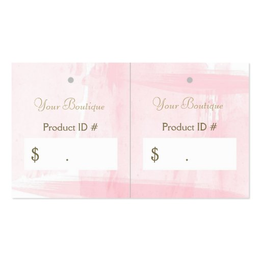 Simple Chic Pink Boutique Retail Sales Hang Tags Business Card