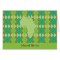 Small Argyle Africa Stationery Note Card