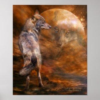 Spirit Of The Wolf Art Poster/Print