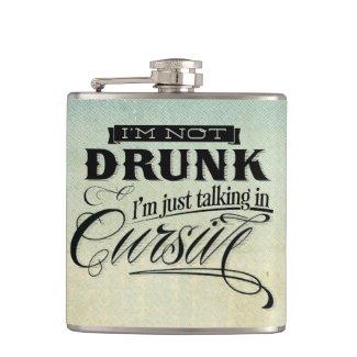 Talking In Cursive Flask
