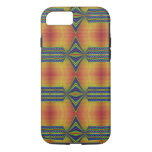 Teal Yellow abstract iPhone 7 Case