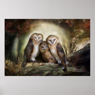 Three Owl Moon Art Poster/Print
