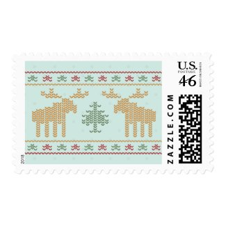 Ugly sweater christmas holiday postage stamps