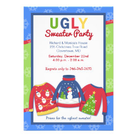 Ugly Sweater Party Customized Holiday Invitation