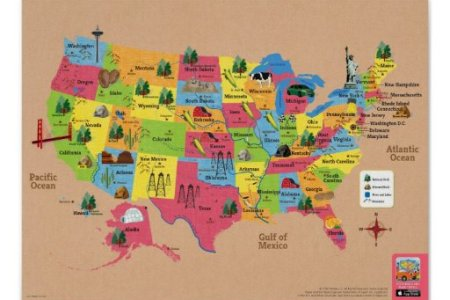 usa map of the united states of america poster | zle