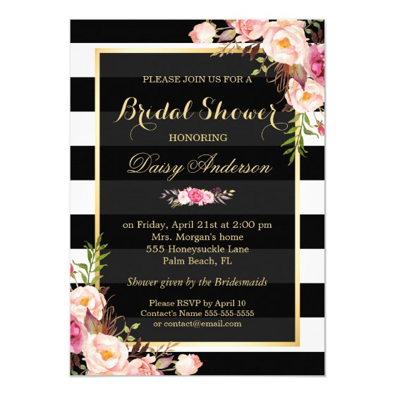 Vintage Floral Decor for Wedding Bridal Shower Card