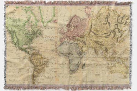 Map blanket vintage map of the world 1831 zlethrowblanket r6348ec601d7c4a208001865712f6cc7c zikrk 324 rlvnet1 world map throw blanket gumiabroncs Choice Image
