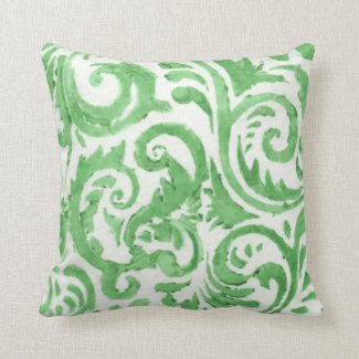 Watercolor Stencil Scrolls Pillows