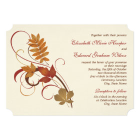 Wedding Invitation | Autumn Fall Leaves