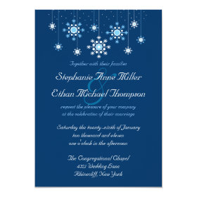 Winter Wedding Snowflakes Invitation