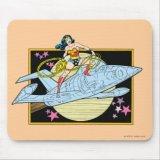 Wonder Woman Invisible Jet Mousepad